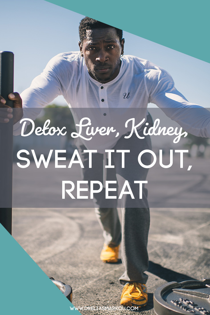 Athlete pushing weights - Detoxify Your Liver, Kidney, Sweat It Out, Repeat