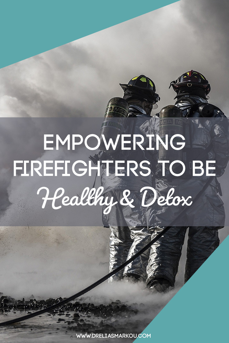 Empowering Firefighters To Be Healthy & Detox - 2 firefighters surrounded by smoke